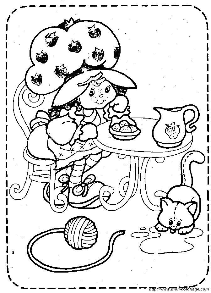 Coloriage charlotte aux fraises gratuit - dessin a imprimer #291
