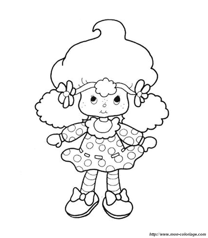 Coloriage charlotte aux fraises gratuit - dessin a imprimer #295