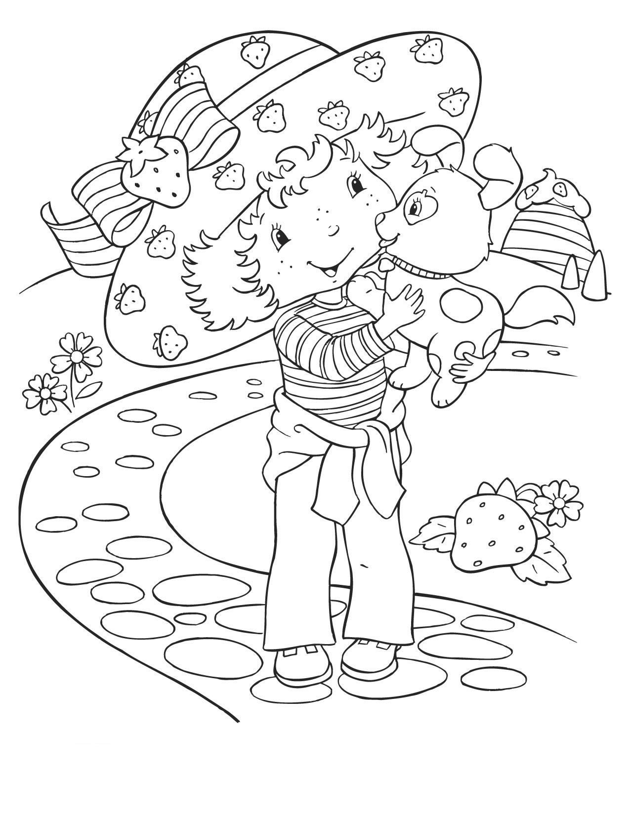 Coloriage charlotte aux fraises gratuit - dessin a imprimer #30