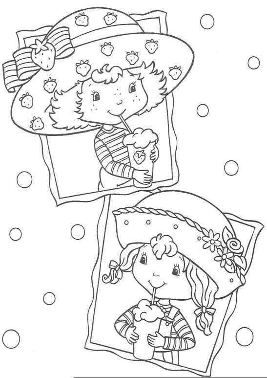 Coloriage charlotte aux fraises gratuit - dessin a imprimer #300