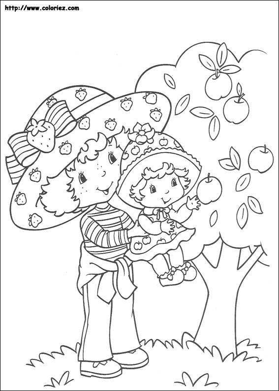 Coloriage charlotte aux fraises gratuit - dessin a imprimer #32