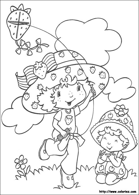 Coloriage charlotte aux fraises gratuit - dessin a imprimer #35