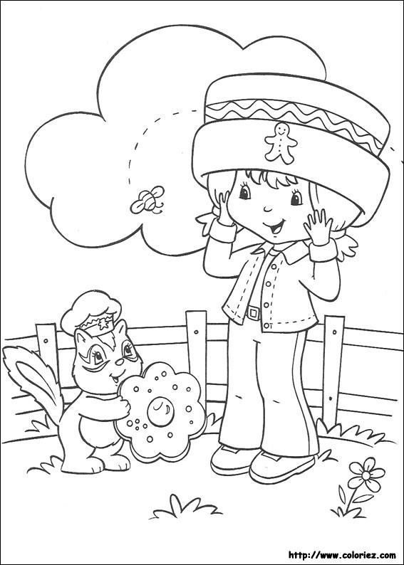 Coloriage charlotte aux fraises gratuit - dessin a imprimer #44