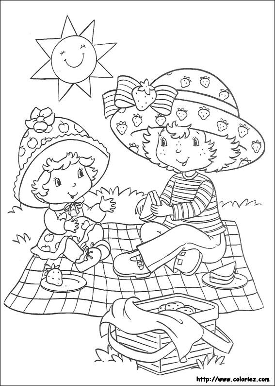 Coloriage charlotte aux fraises gratuit - dessin a imprimer #5