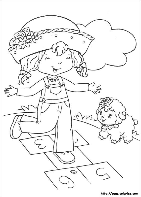 Coloriage charlotte aux fraises gratuit - dessin a imprimer #63
