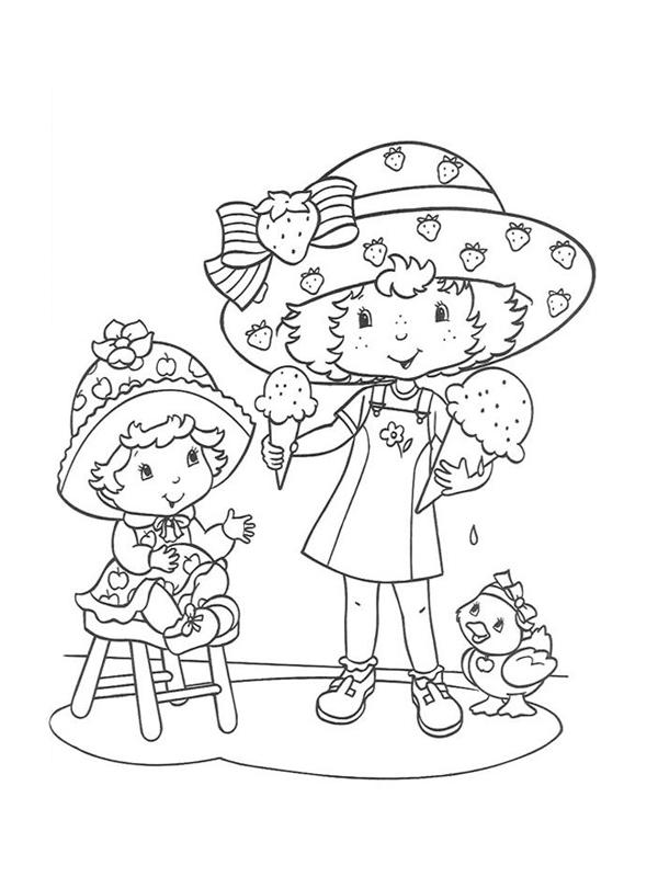 Coloriage charlotte aux fraises gratuit - dessin a imprimer #69