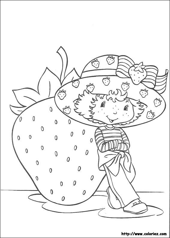 Coloriage charlotte aux fraises gratuit - dessin a imprimer #7