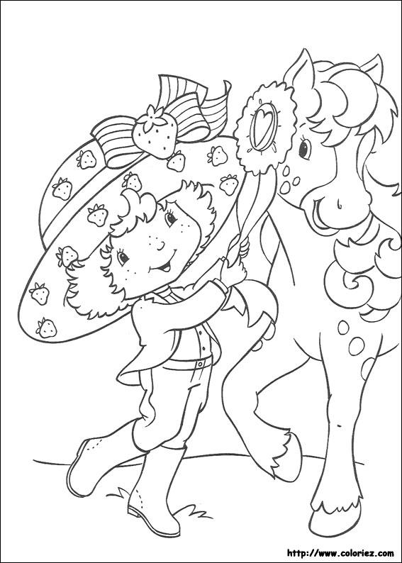 Coloriage charlotte aux fraises gratuit - dessin a imprimer #76