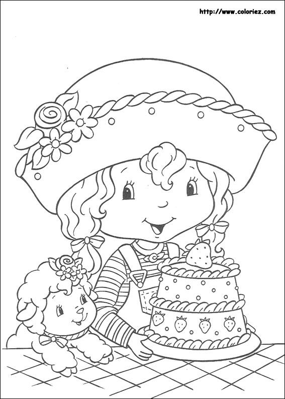 Coloriage charlotte aux fraises gratuit - dessin a imprimer #77