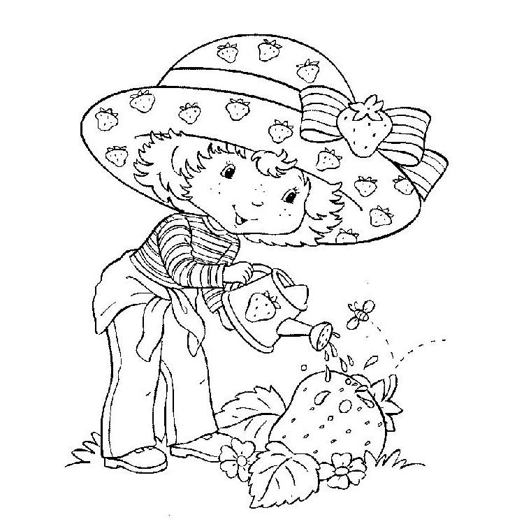 Coloriage charlotte aux fraises gratuit - dessin a imprimer #8