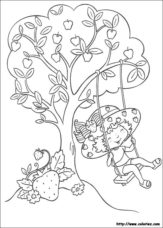 Coloriage charlotte aux fraises gratuit - dessin a imprimer #80