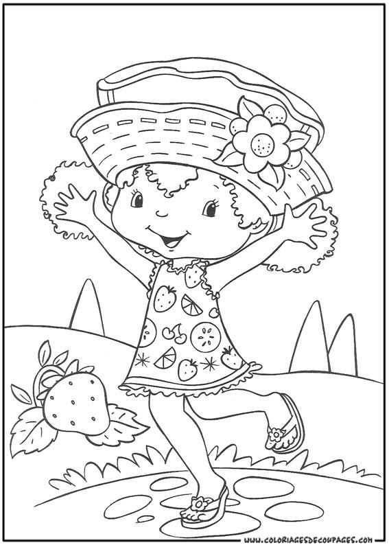 Coloriage charlotte aux fraises gratuit - dessin a imprimer #88