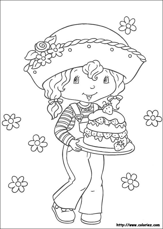 Coloriage charlotte aux fraises gratuit - dessin a imprimer #94
