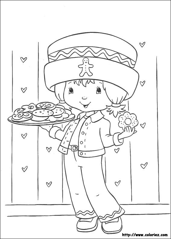 Coloriage charlotte aux fraises gratuit - dessin a imprimer #97