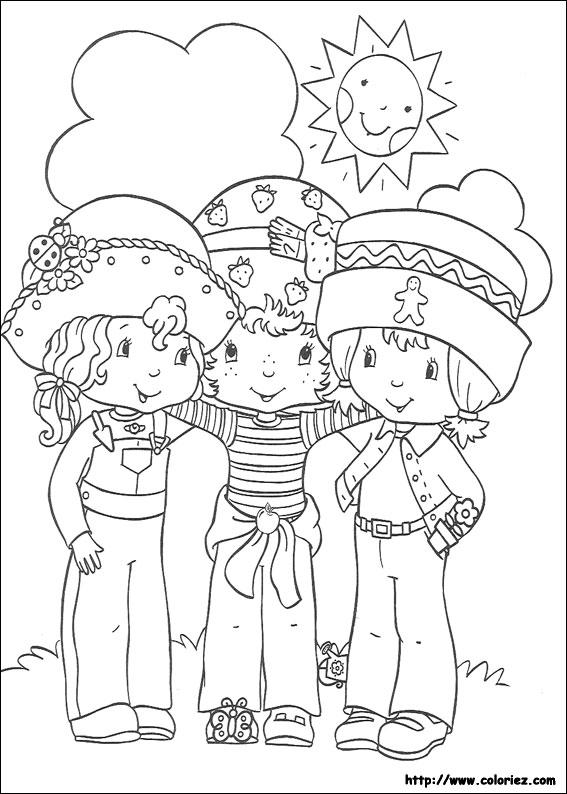 Coloriage charlotte aux fraises gratuit - dessin a imprimer #98