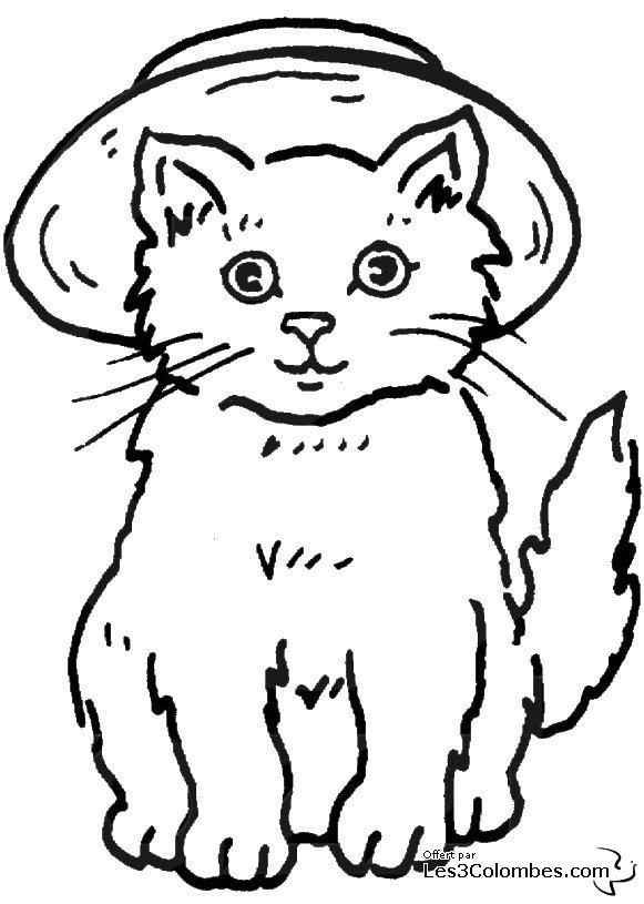 Dessin de chat imprimer et colorier