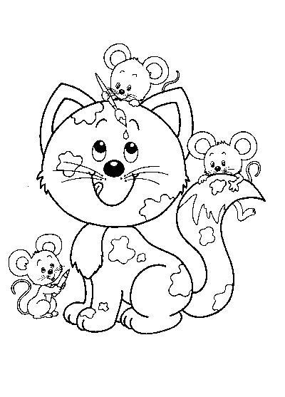 Coloriage de chat gratuit à imprimer