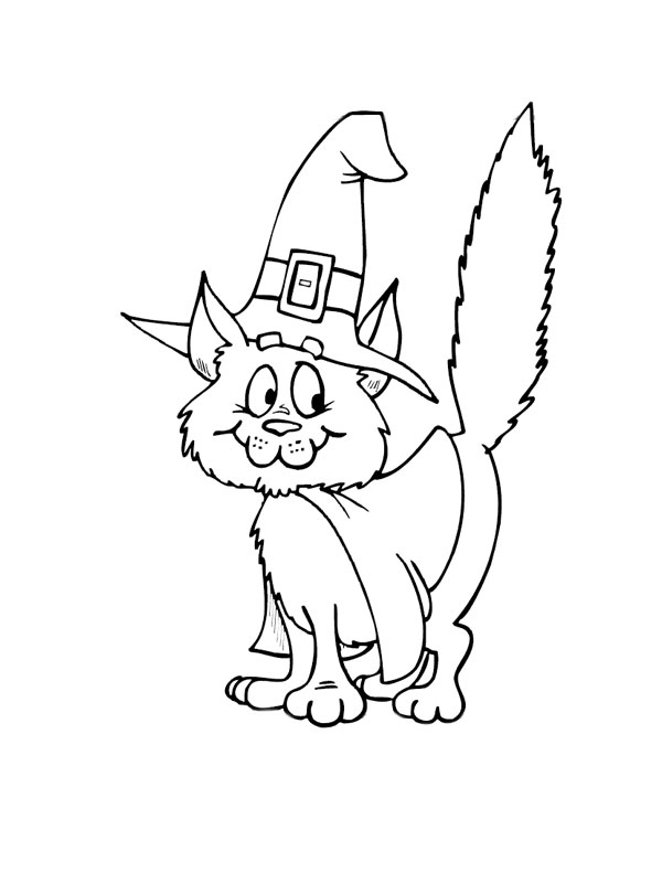 Coloriage chat gratuit