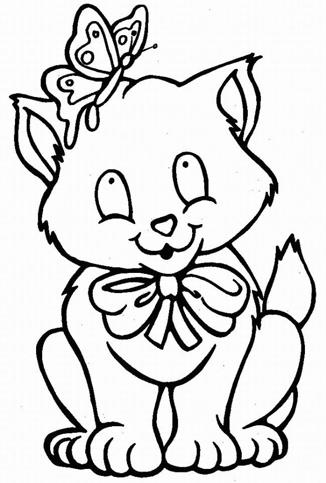Coloriage gratuit de chat à imprimer