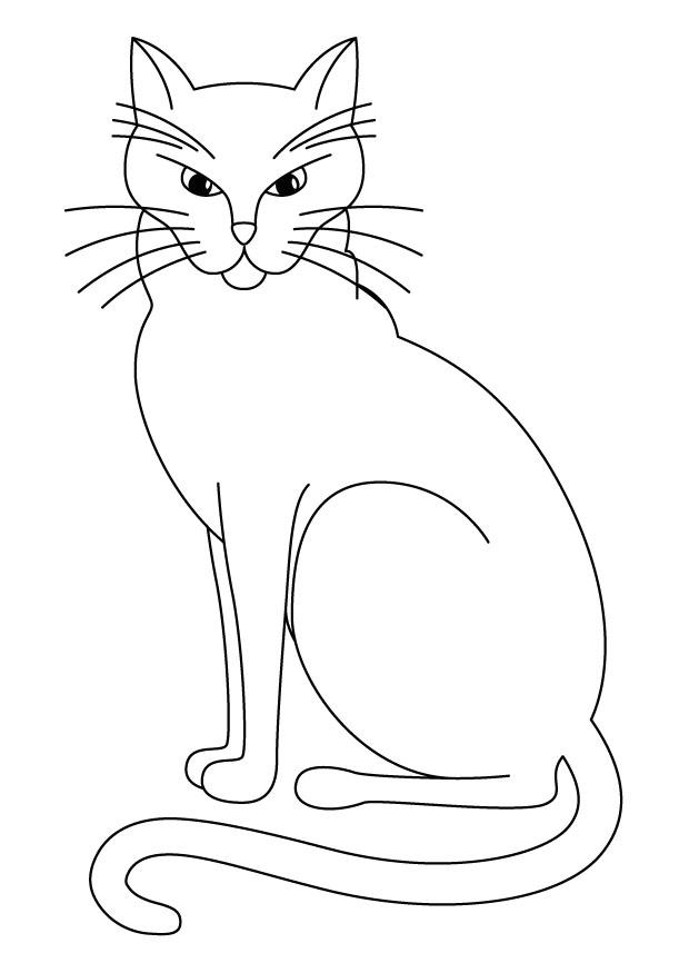 Dessin de chat pour imprimer et colorier