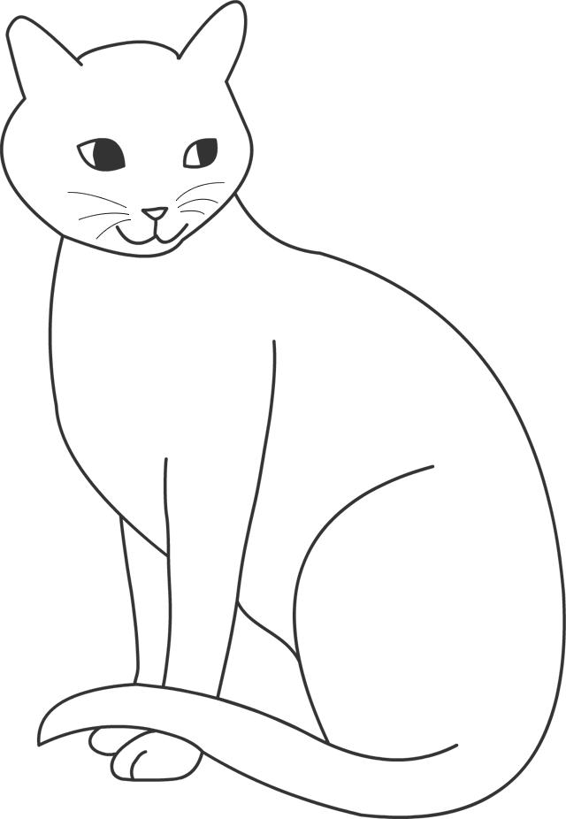 Êtes ici  accueil coloriages animaux les chats coloriage, un chat