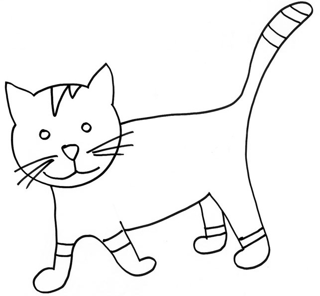 Coloriage de chat à colorier