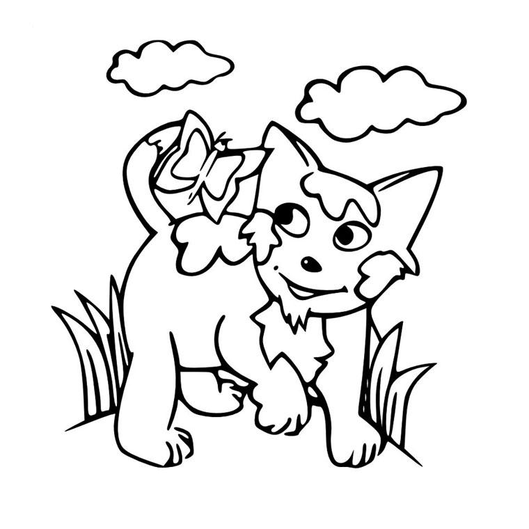Jeux de coloriage chat à colorier et imprimer