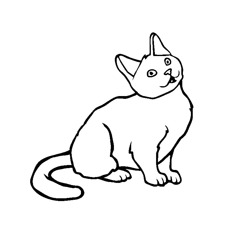 260 dessins de coloriage chat imprimer sur page 13 - Dessin a colorier un chat ...