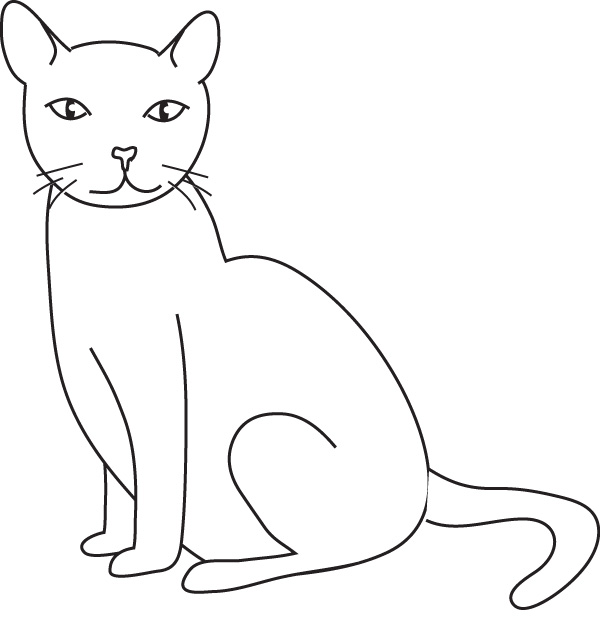 Jeux de coloriage chat a colorier