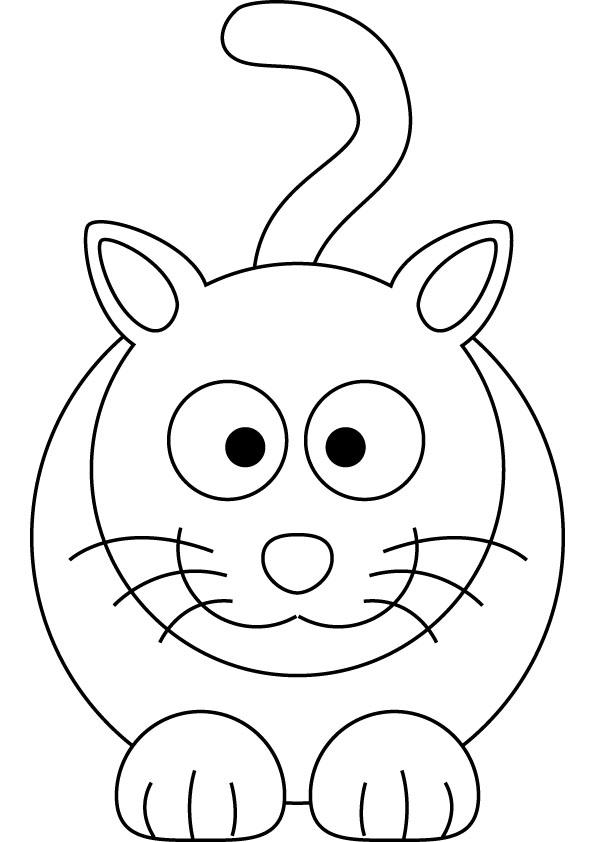 Coloriage de chat gratuit à imprimer et colorier