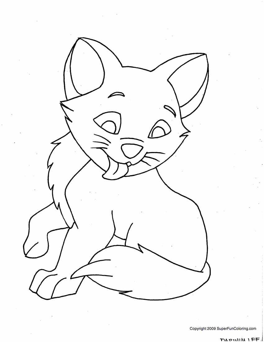 Dessin gratuit de chat a imprimer et colorier