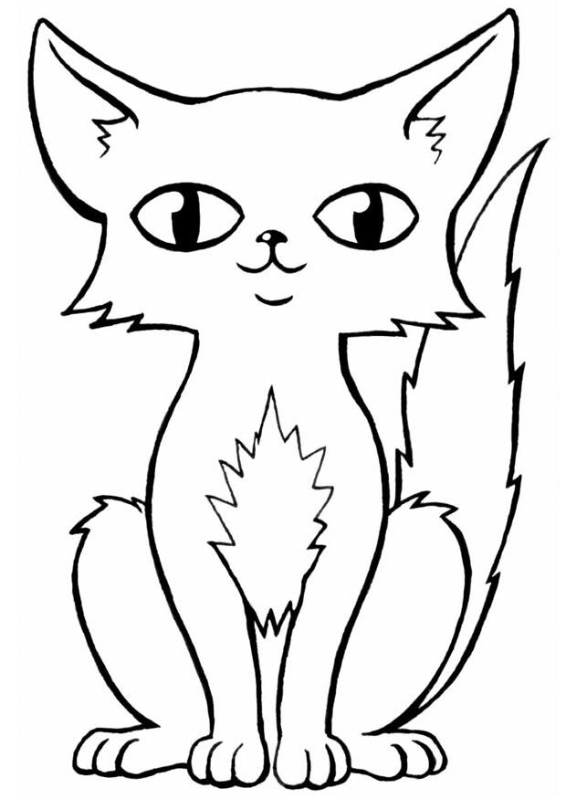 Coloriage de chat gratuit