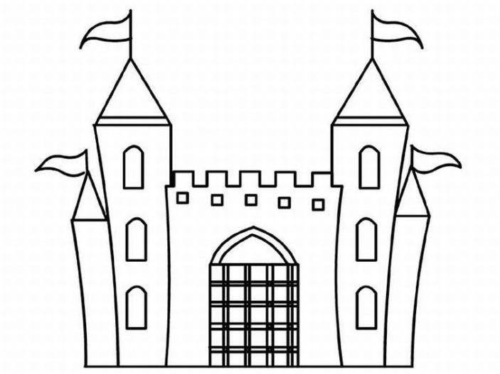 96 dessins de coloriage ch teau imprimer sur laguerche - Chateaux dessin ...