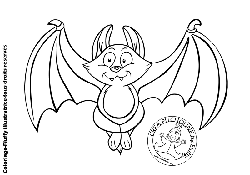 S lection de coloriage chauve souris imprimer sur - Dessin halloween chauve souris ...