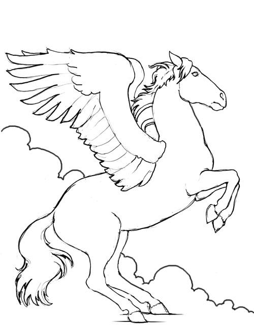 Dessin de cheval à imprimer