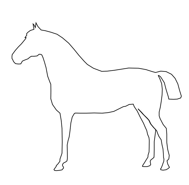Dessin de cheval à colorier