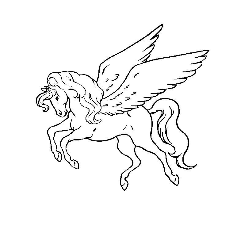 Dessin gratuit cheval a colorier