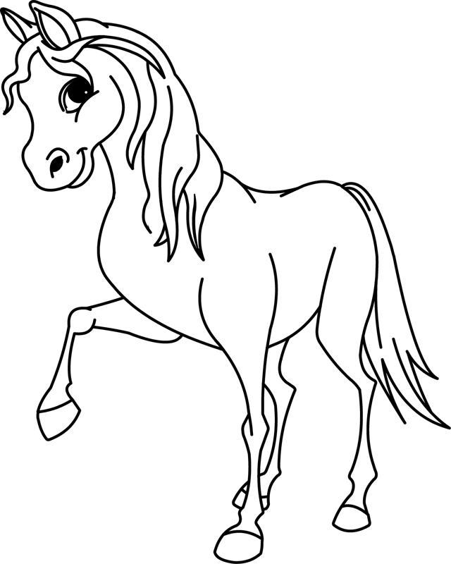 296 dessins de coloriage cheval imprimer sur laguerche - Dessin a colorier cheval ...