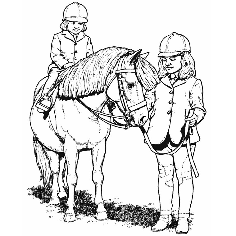 Coloriage de cheval