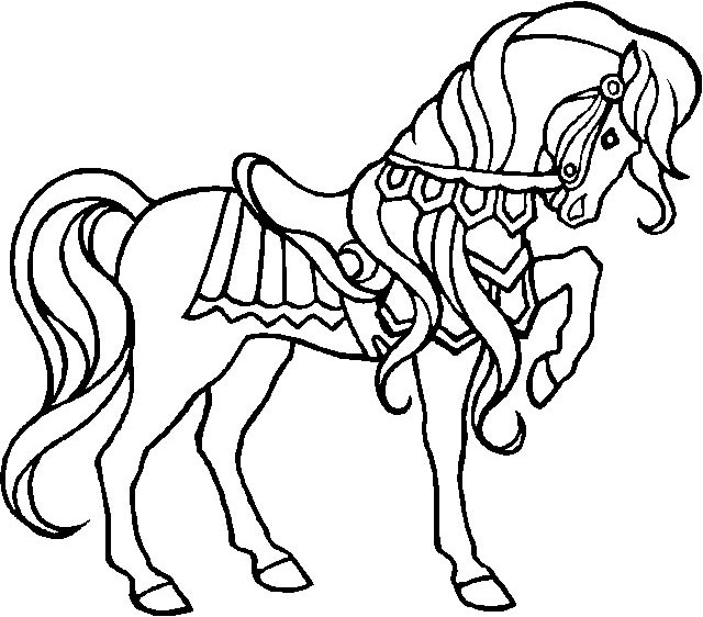 coloriage cheval licorne - Coloriage De Cheval