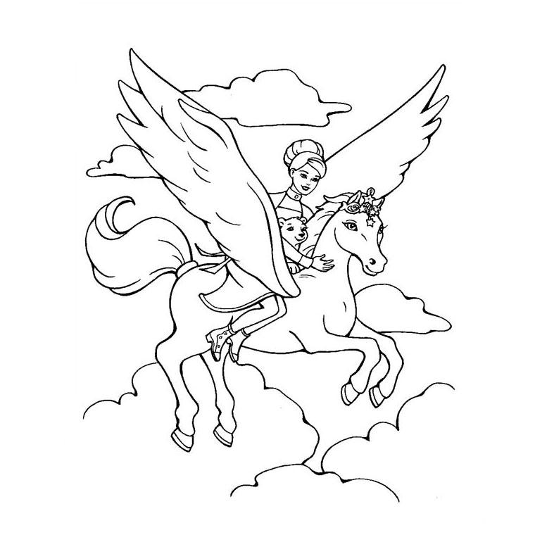 Dessin de cheval pour imprimer et colorier