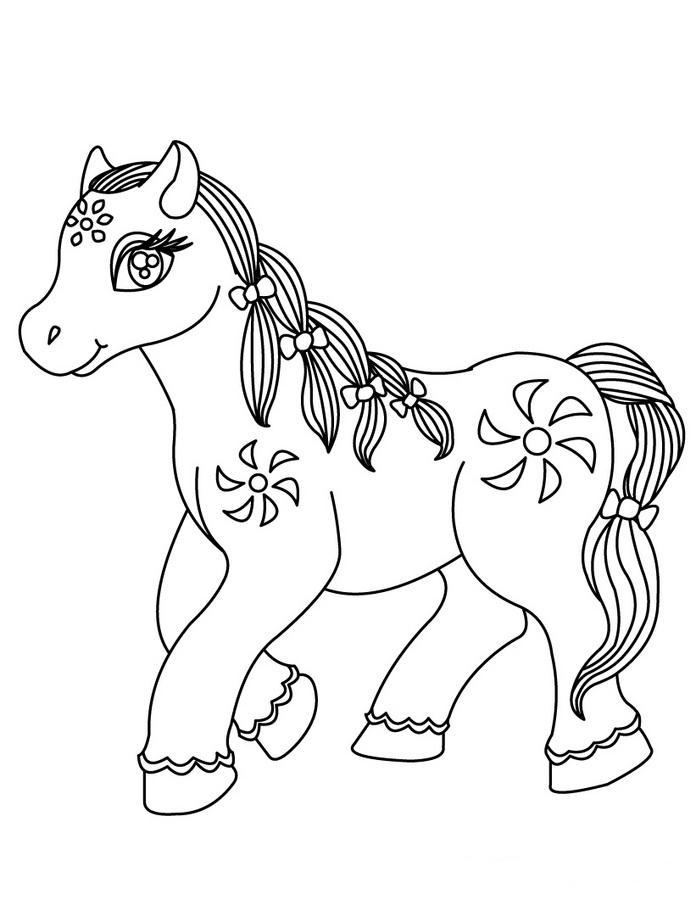 Coloriage de cheval gratuit a imprimer et colorier