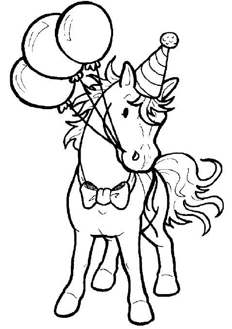 Coloriage de cheval gratuit à imprimer