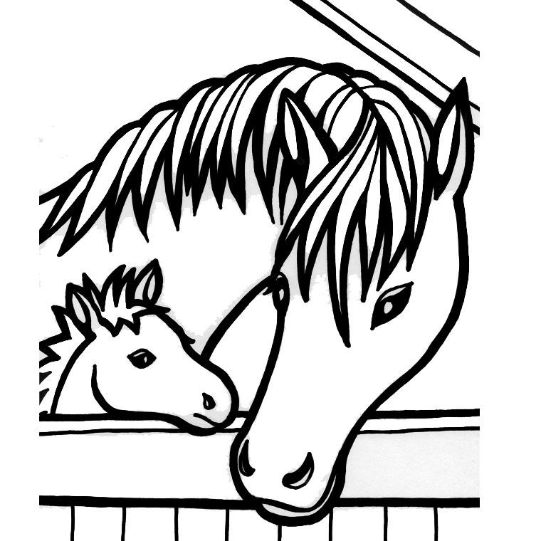 296 dessins de coloriage cheval imprimer sur page 14 - Chevaux a colorier et a imprimer ...