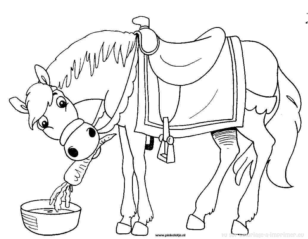 296 dessins de coloriage cheval imprimer sur laguerche - Coloriage chevaux imprimer ...