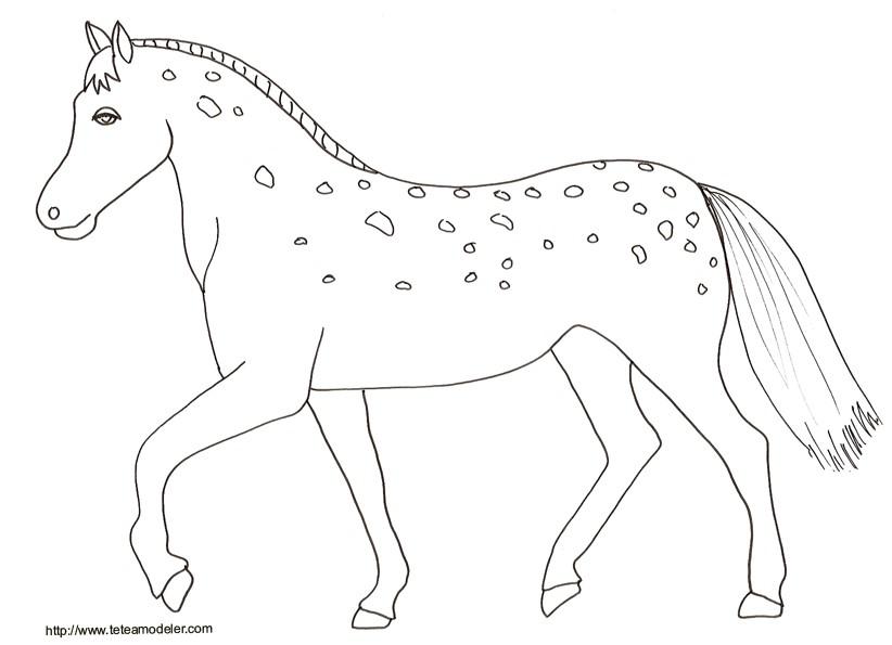 Dessin de cheval a imprimer