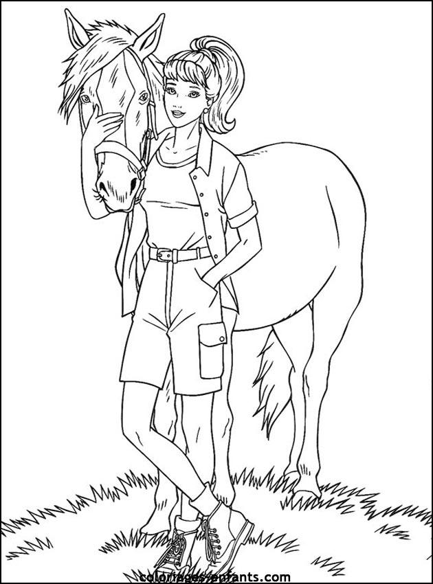 Dessin de cheval gratuit a imprimer et colorier