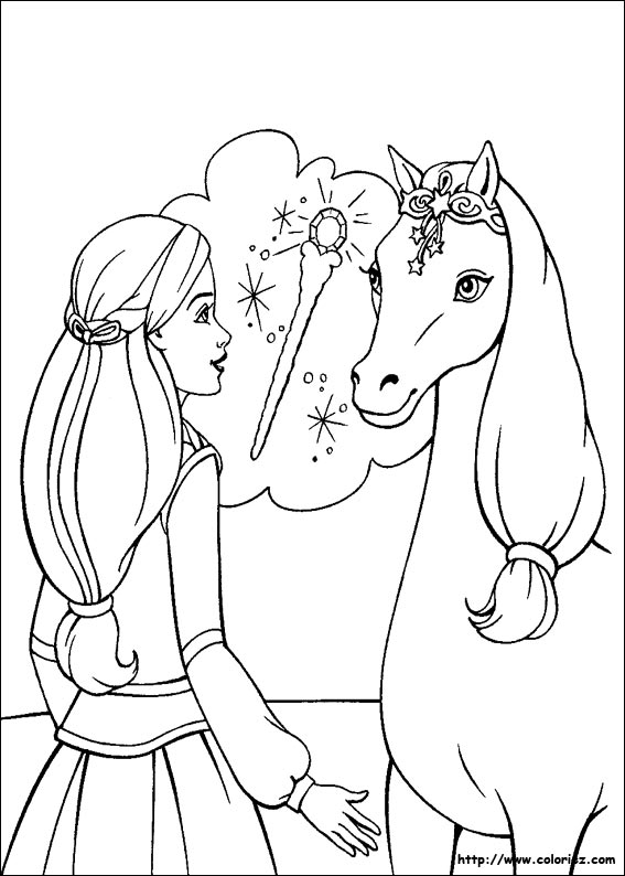 Activité de coloriage cheval gratuit a imprimer et colorier