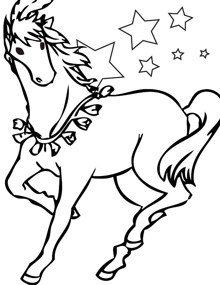 Coloriage de cheval gratuit à imprimer et colorier