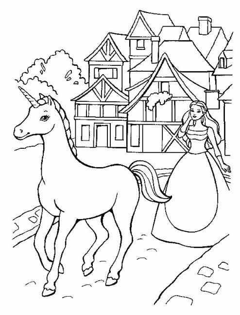 Dessin gratuit de cheval à imprimer